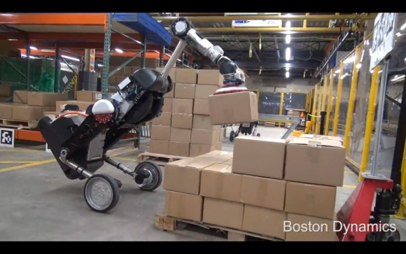 A Boston Dynamics Handle robotja